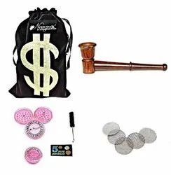 Rosewood Smoking Tobacco Pipe 6 Inch INCL. Herb Crusher & Full Accessories