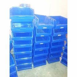 Blue Rectangular Plastic Crate