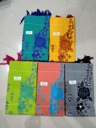 Handloom Cotton Flower Embroider Dress Material