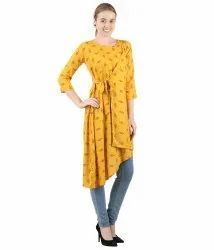 Indo Western Printed Yellow star dress