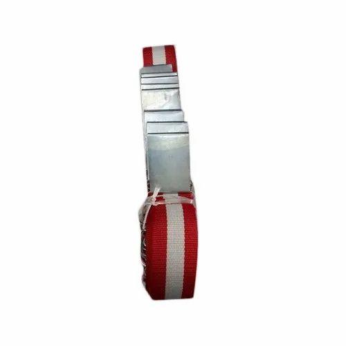 Red And White Cotton School Belt, Handwash