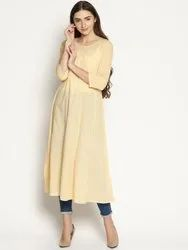 Chikan Embroidered Party Wear Long Kurti