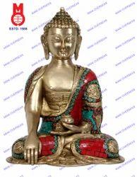 Stone Work Asthmangal Buddha Sakyamuni W/Out Base Statue