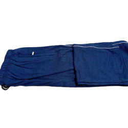 Mens Cotton Blue Casual Lower