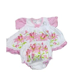 Cotton Girl Girls Born Baby Suit Set, 0-6 Months, Packaging Type: Packet