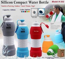 Silicon Sipper Sillicon Compact Water Bottle H-302, for Drinking Water