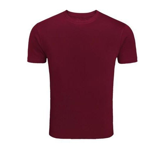 Mens Medium Cotton Plain Half Sleeve T- Shirts