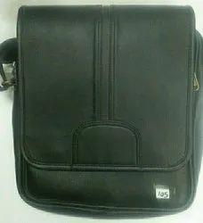 Adjustable Black Leatherette PU Sling Bag, For Office