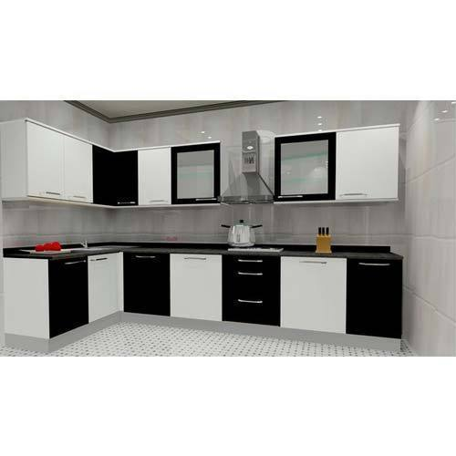 Innovative L Shaped Modular Kitchen Rs 50000 Unit