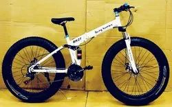 Being Human White Fat Tyre Foldable Cycle