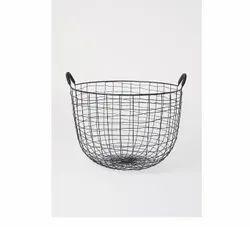 Decorative and Storage Metal Home Basket