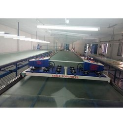 Textile Screen Printing Glass Top Table Dryer