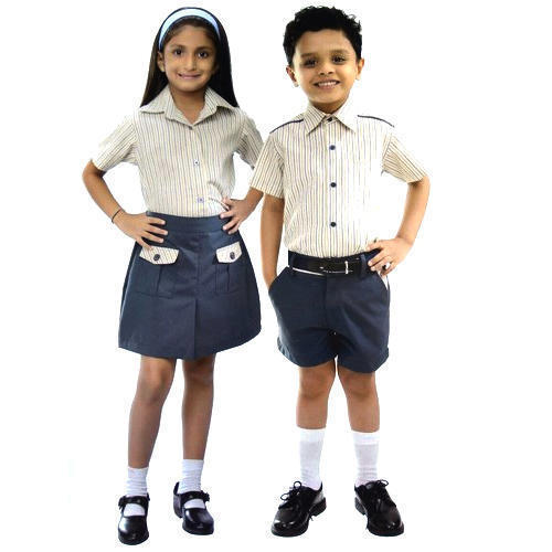 652bcc1e8211f Cotton School Skirt And School Half Pant Girls And Boys School Uniform Set