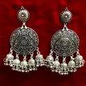 Oxidized Heavy Antique Earrings