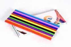 Papaer And Pvc Sleeve colour lamineted paper pencils, For writing
