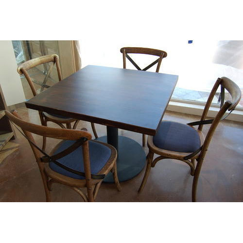 Vok Interior High Quality Wooden Restaurant Table And Chairs Set Rs - Restaurant table and chair sets