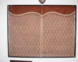 Ruched Merlot Thai Silk Curtains
