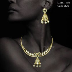 Delicate Meenakari AD Necklace Set