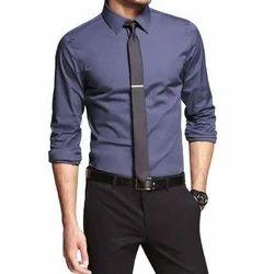 Men Full Sleeves Plain Formal Shirt