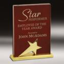 Star Rectangular Wooden Trophy