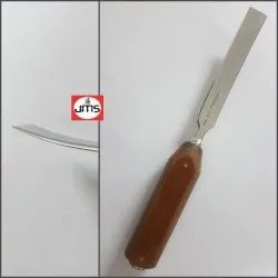 Osteotome with Fiber Handle - Curved Orthopedic Instrument
