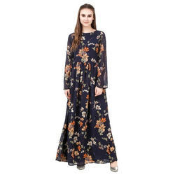Printed Casual Fancy Maxi Dress With Floral Print