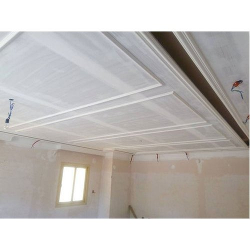 White Gypsum Ceiling Board, Rectangular, for False Ceiling