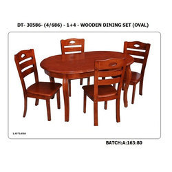Brown 1 45 X 0 85 Meter Oval Dining Table Rs 25000 Set Id