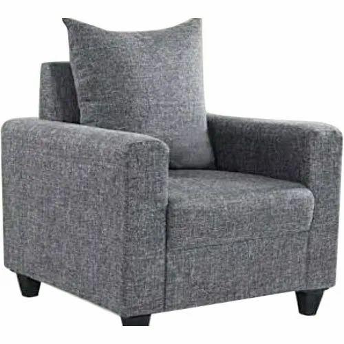 Modern Grey Single Seater Sofa Chair
