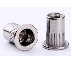 Flat Head Knurled Body Closed Rivet Nut
