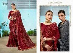 Ethnic Red Designer Wear Saree