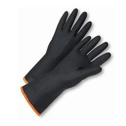 Black Rubber Safety Gloves