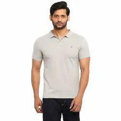 Cotton Plain Basic Polo T-Shirt Without Pocket, Size: 2XL