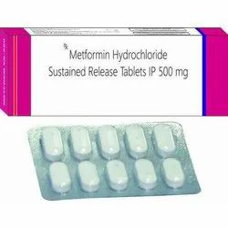 Metformin Hydrochloride Sustained Release Tablets, Packaging Type: Strips, for Hospital/Clinic