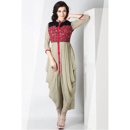 5ca082d64c8 Multicolor Western Wear Ladies Indo Western Dress
