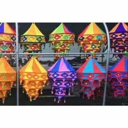 Decorative Cotton Fabric Lantern