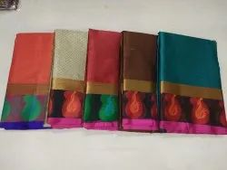 Latest Kora Silk Sarees