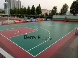 5mm Thick Basket Ball court Synthetic Sports Flooring