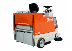 Battery Operated Sweeping Machine for Parking Area