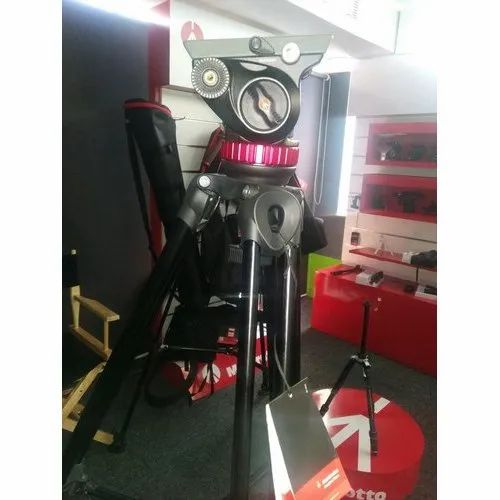 44 lbs Capacity Manfrotto Virtual Reality Aluminum Base with Half Ball for Levelling 10 Maximum Height