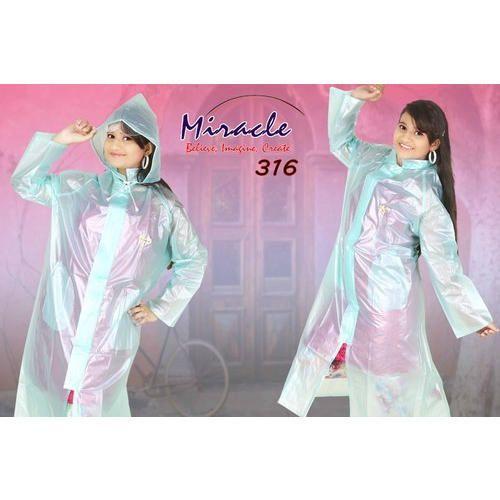 85b5021f3 Women Transparent Ladies Plastic Long Raincoat Plain Miracle, Rs 300 ...