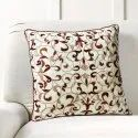 16 X 16 Inch App Orange Bel Embroidery Cushion Cover
