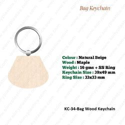 Wooden KeyChain-KC-34-Bag