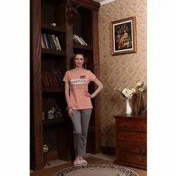 Casual Wear Ladies Fashion Printed Cotton T Shirt