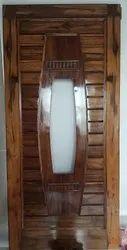 Wooden tek saftey door