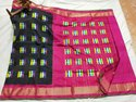 Black And Pink Ikkat Silk Saree