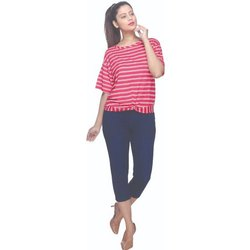 ON & ON Skim Fit Ladies Cotton Lycra Capri Pants