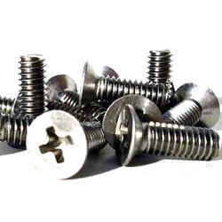 Full Thread Stainless Steel Wood Screw, Chrome