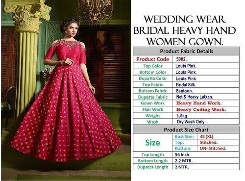 5ef394fb9 Thankar Heavy Designer Gown