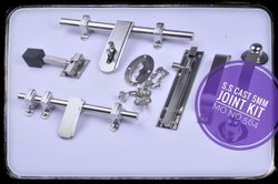 Stainless Steel Unique Design S.S Cast 5mm Joint Aldrop & Door Kit, Packaging Size: 10 - 20 Pieces, Aldrop Size: 10